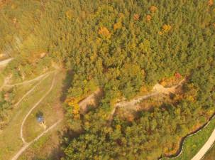 가을단풍이 물든 산책로